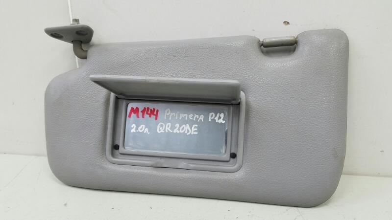Козырек солнцезащитный Nissan Primera P12 QR20DE 2003 передний правый