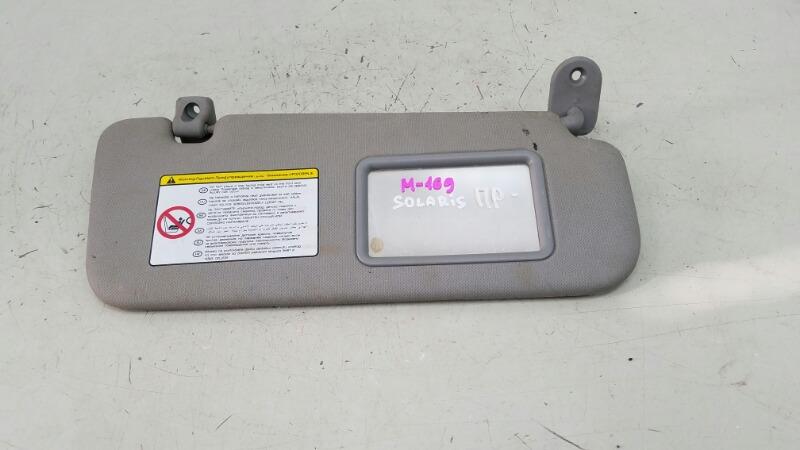Козырек солнцезащитный Hyundai Solaris RB G4FC 1.6Л 2012 правый