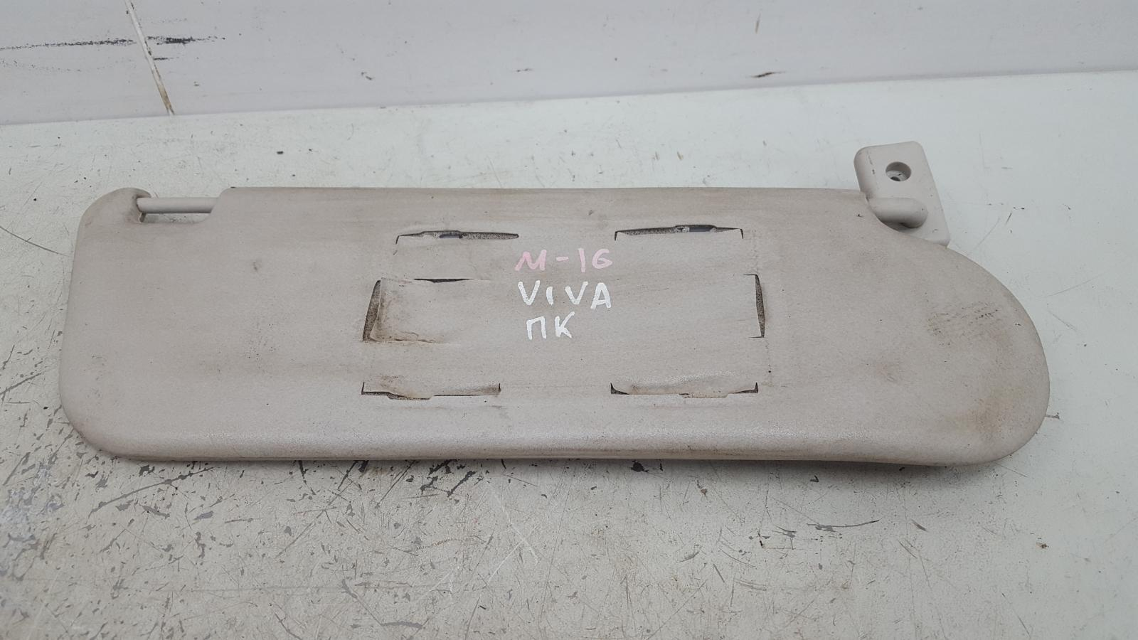Козырек солнцезащитный Chevrolet Viva Z18XE 2008 правый