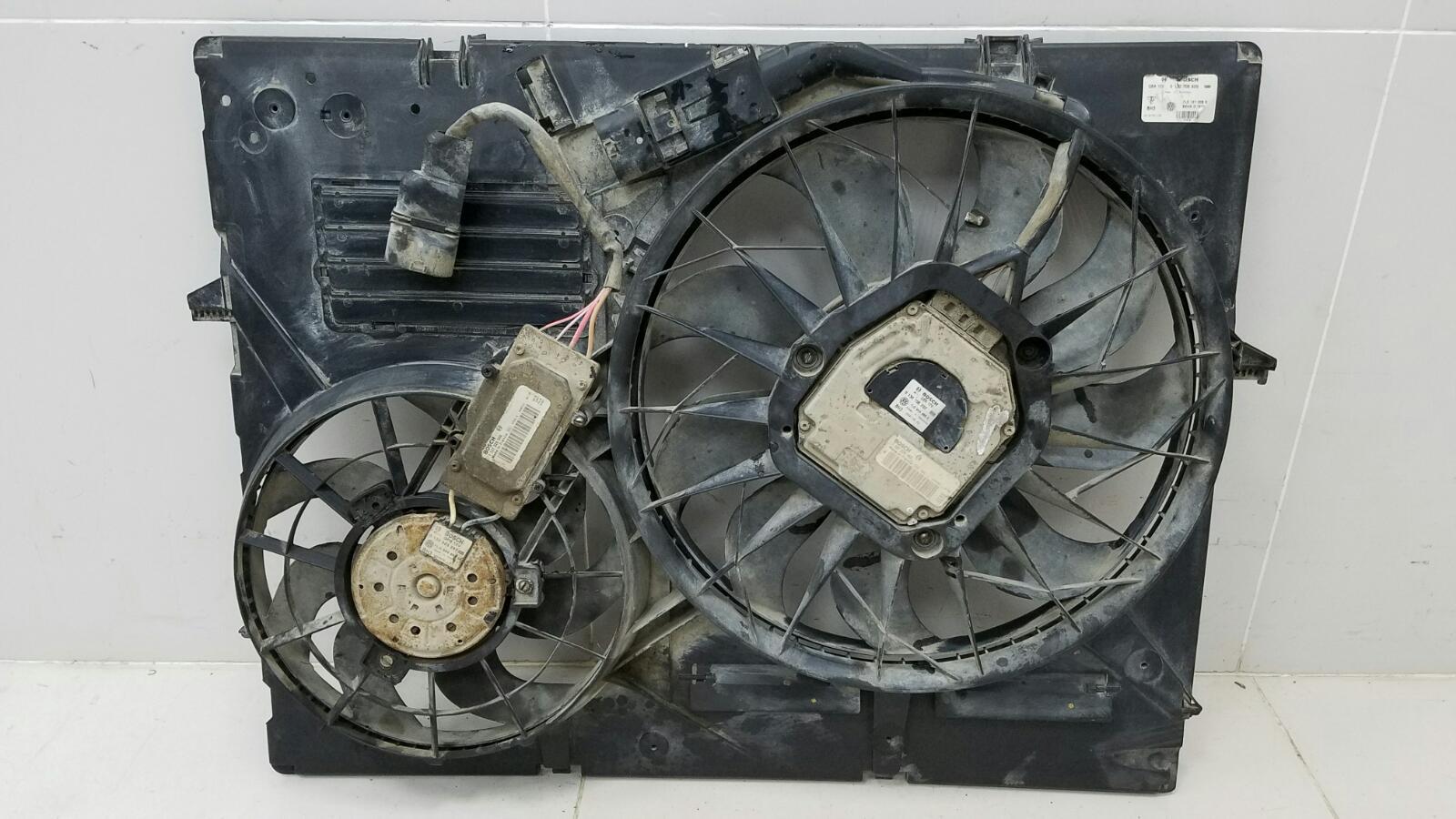 Вентилятор охлаждения радиатора Porshe Cayenne 955 BMV M02.2Y 3.2Л 2005