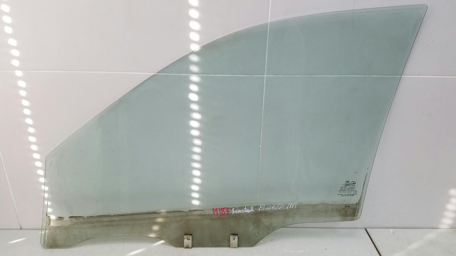 Стекло двери Hyundai Sonata 2 Y3 G4EP 1998 переднее правое