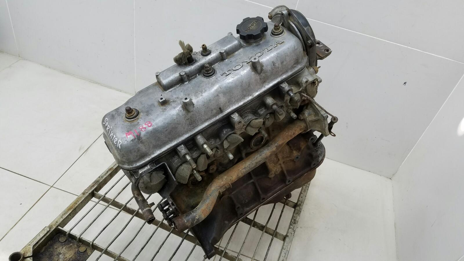 Двигатель двс Toyota Sprinter AE81 3ALU 1.5Л 1986
