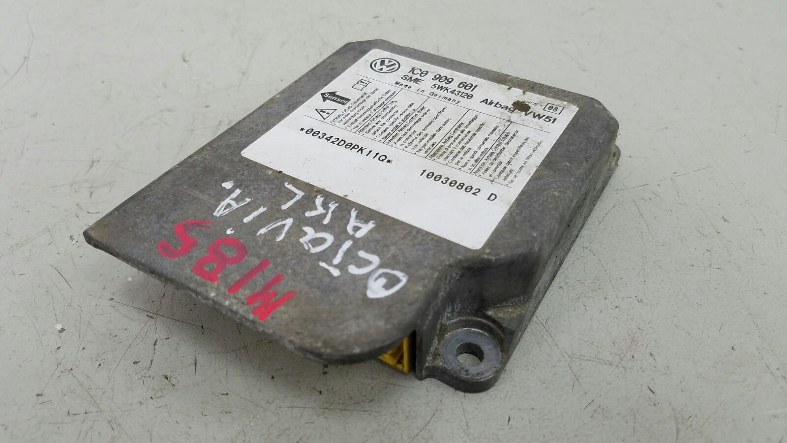 Блок управления srs airbag Skoda Octavia 1U2 AKL 1.6Л 2003