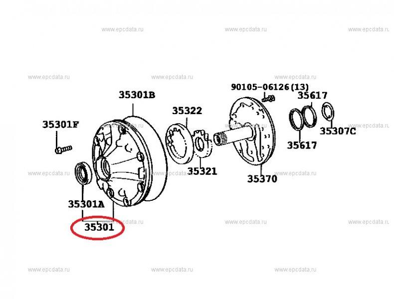 Насос акпп Toyota Land Cruiser Prado KDJ125 1KDFTV
