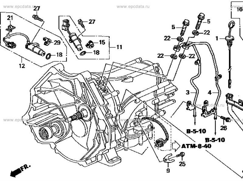 Датчик скорости Honda Legend KA7 C32A