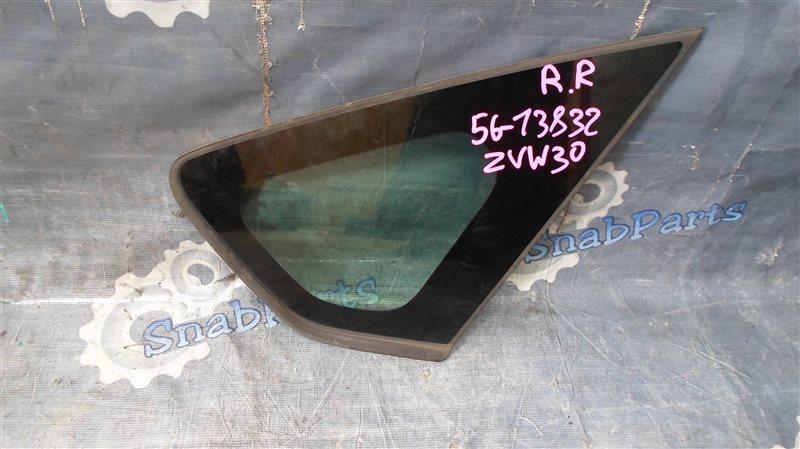Стекло собачника Toyota Prius ZVW30 2ZR-FXE 2010 заднее правое