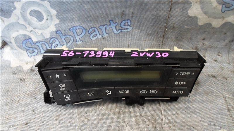 Блок климат-контроля Toyota Prius ZVW30 2ZR-FXE 2010
