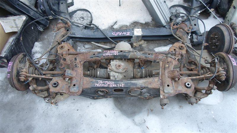 Балка подвески Toyota Premio ZRT265 2ZR-FE 2008 задняя