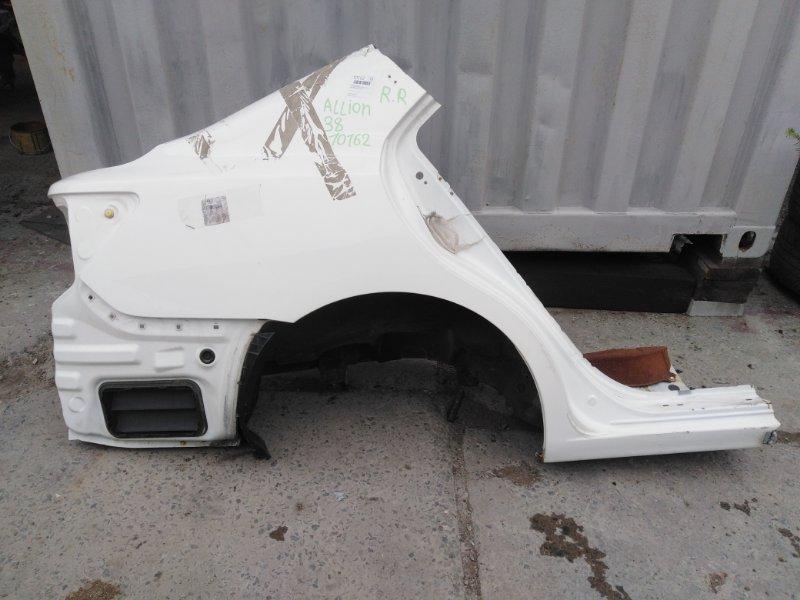 Крыло Toyota Allion ZRT265 2ZR-FAE 2012 заднее правое