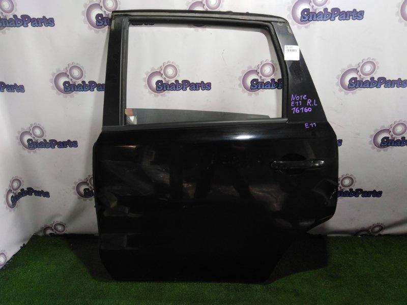 Дверь Nissan Note E11 HR15DE задняя левая
