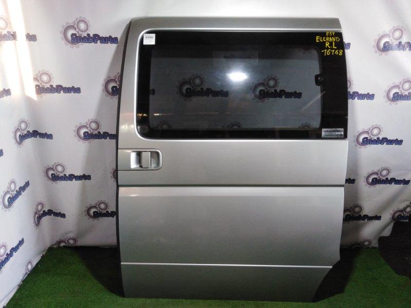 Дверь Nissan Elgrand E51 VQ35DE задняя левая
