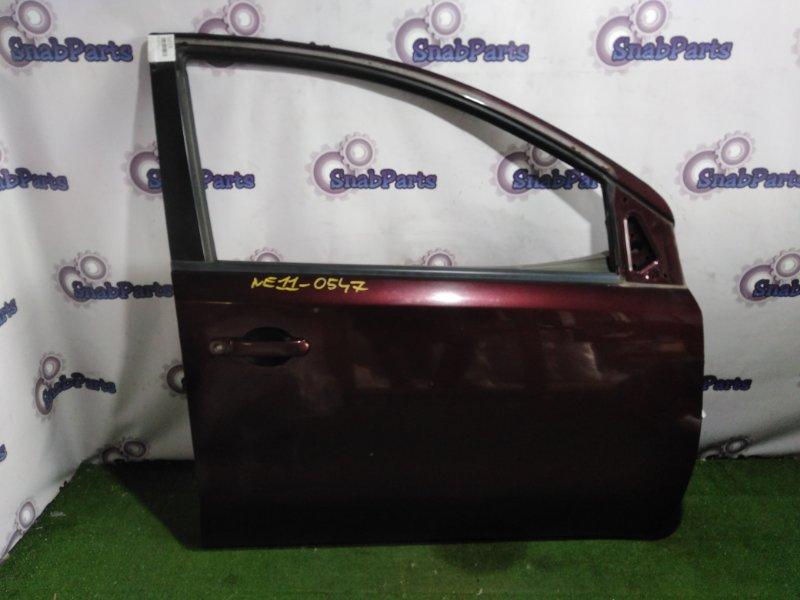 Дверь Nissan Note E11 HR15DE передняя правая