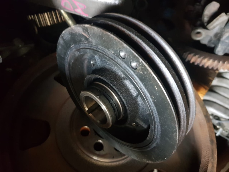 Шкив коленвала Toyota Land Cruiser Prado KZJ78 1KZ
