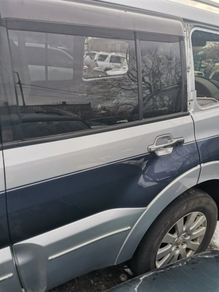 Дверь Mitsubishi Pajero V97W 6G75 задняя левая