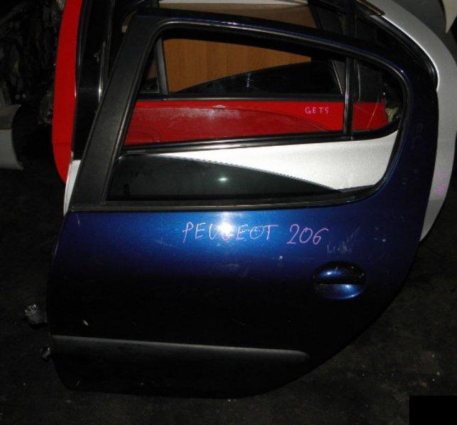 Дверь Peugeot 206 KFW 10FSR6 задняя левая