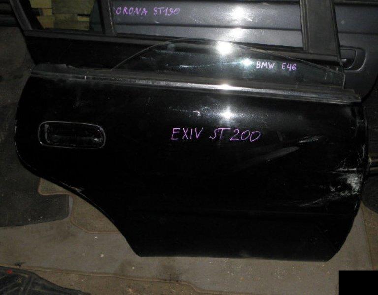 Дверь Toyota Corona Exiv ST202 3SFE задняя правая