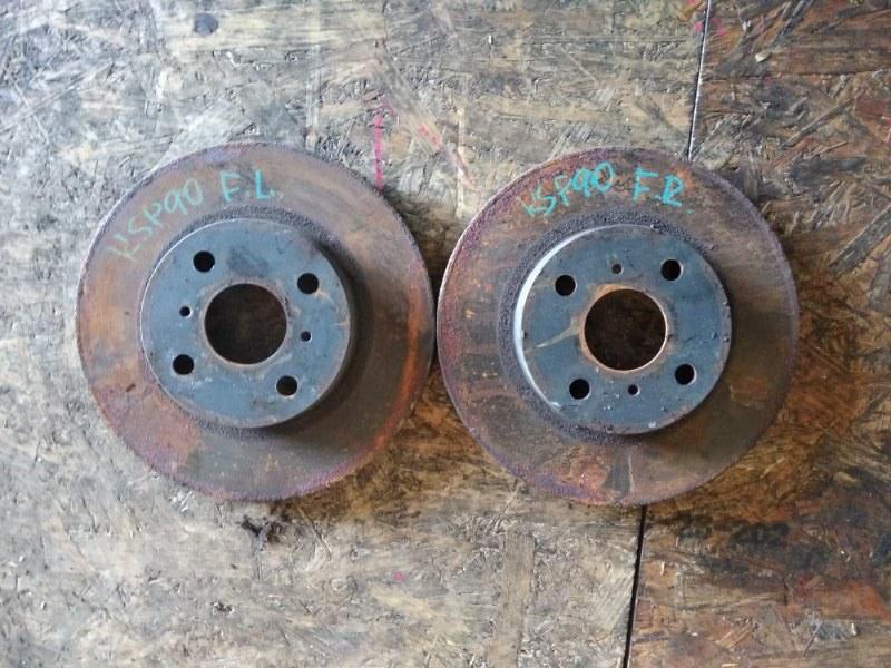 Тормозной диск Toyota Vitz KSP90 1KRFE передний