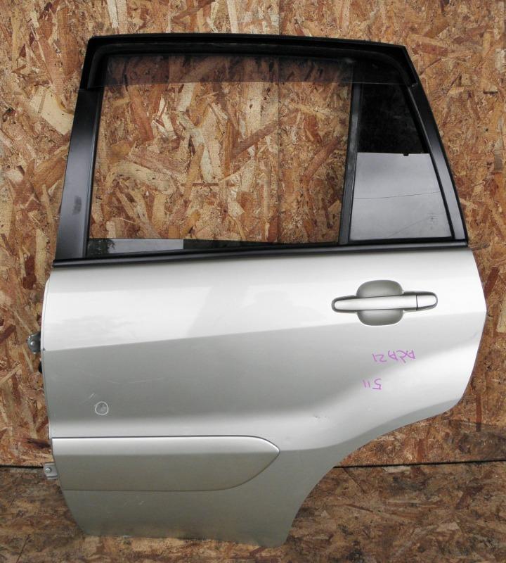 Дверь Toyota Rav4 ACA21 1AZFSE 2001 задняя левая