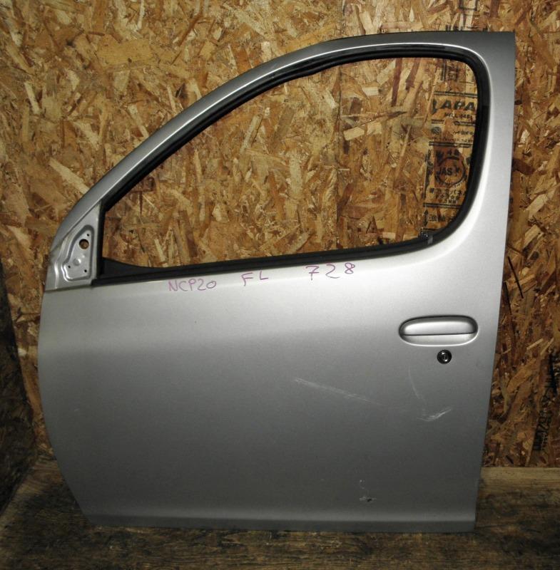 Дверь Toyota Funcargo NCP20 2NZFE 2002 передняя левая