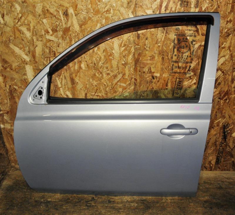 Дверь Nissan March AK12 CR12DE 2004 передняя левая