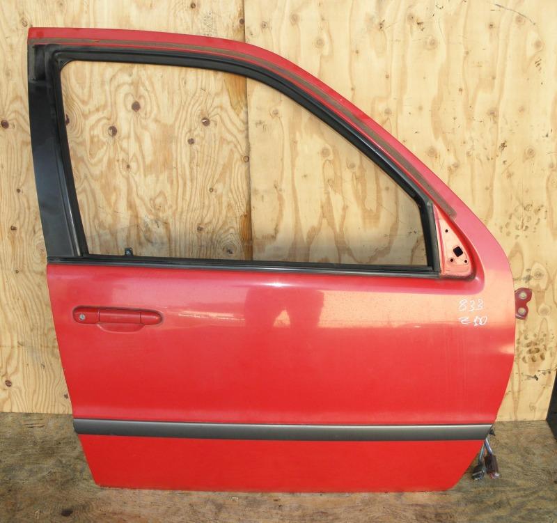 Дверь Toyota Raum EXZ10 5EFE 2001 передняя правая