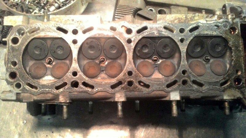 Головка блока цилиндров Nissan Presage U30 К24DE