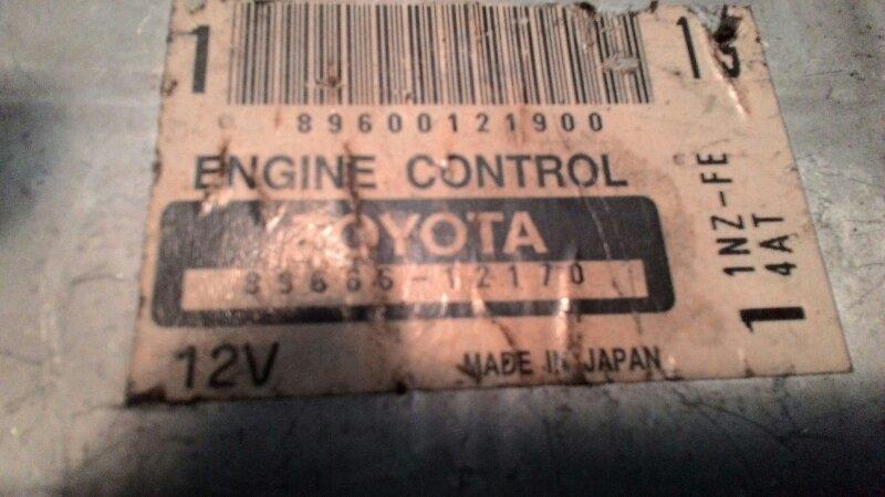 Блок управления двс Toyota Probox NCP 51 1NZFE
