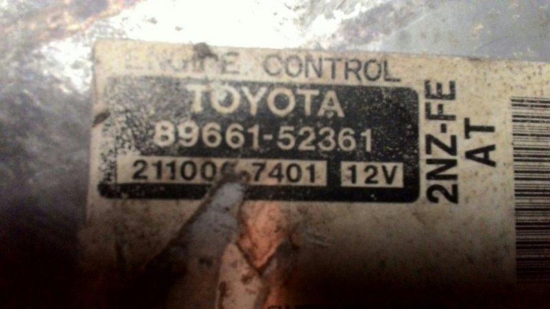 Блок управления двс Toyota Ist NCP61 2NZ-FE