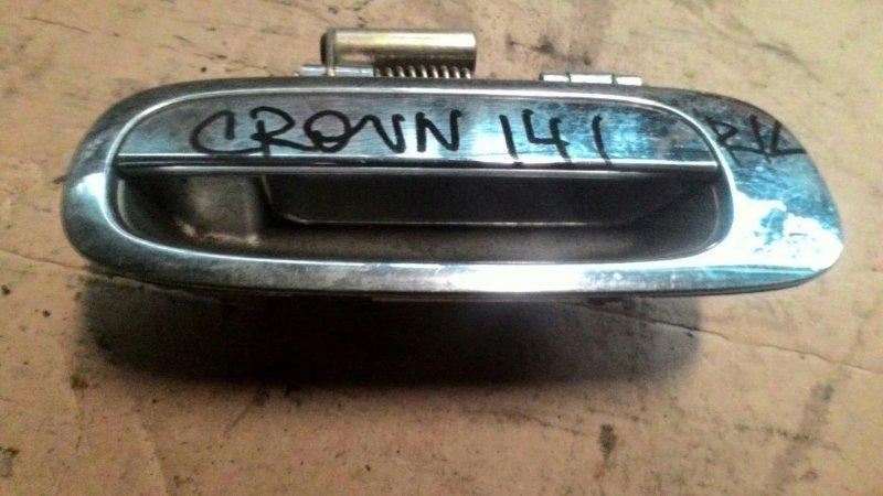 Ручка двери наружняя Toyota Crown JZS141 1JZ задняя левая