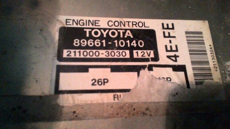 Блок управления двс Toyota Sprinter AE100 4Е FE
