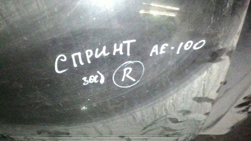 Стекло двери Toyota Sprinter AE100 заднее правое