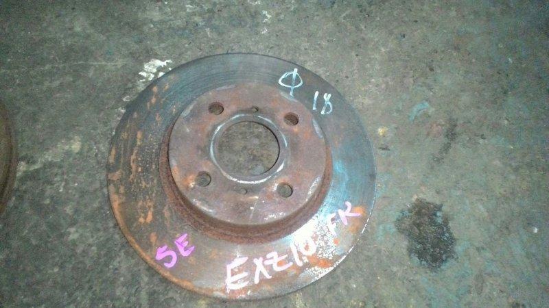 Тормозной диск Toyota Raum EXZ10 5EFE