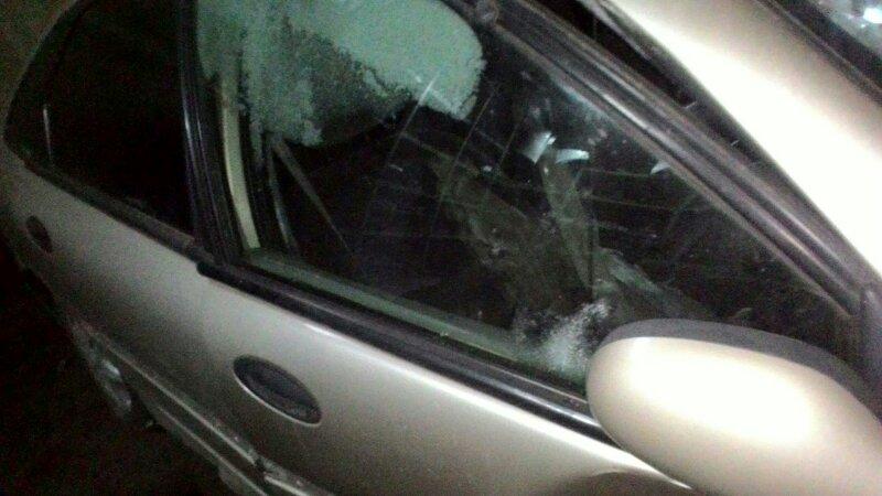 Стекло двери Renault Laguna 1 VF1 F4P 2000 переднее правое