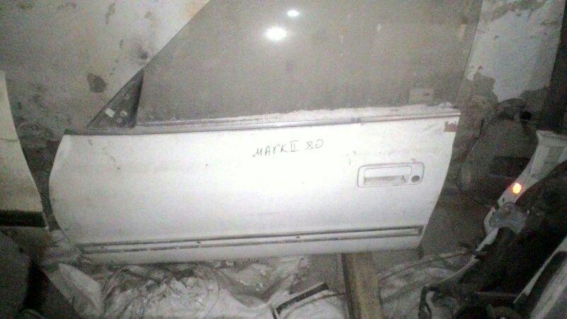 Дверь боковая Toyota Mark Ii GX81 1GFE передняя левая