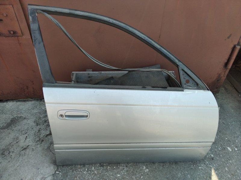 Дверь боковая Toyota Caldina АТ211 7AFE передняя правая