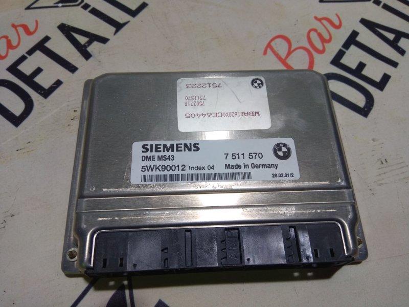 Блок управления двс DME MS43 BMW контр. М54