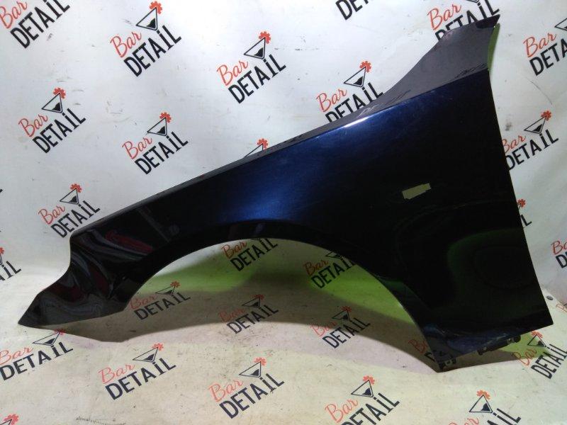 Крыло BMW 5 синее, дефект левое переднее E60 контр.