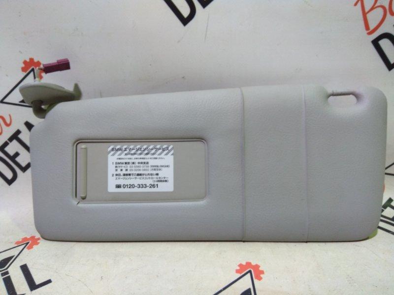 Солнцезащитный козырек с фон.подсв. Л  серый BMW 5 E39 контр