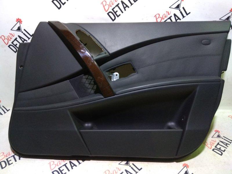 Обшивка двери Bmw 5 Серия E60 N62B44 2004 передняя правая