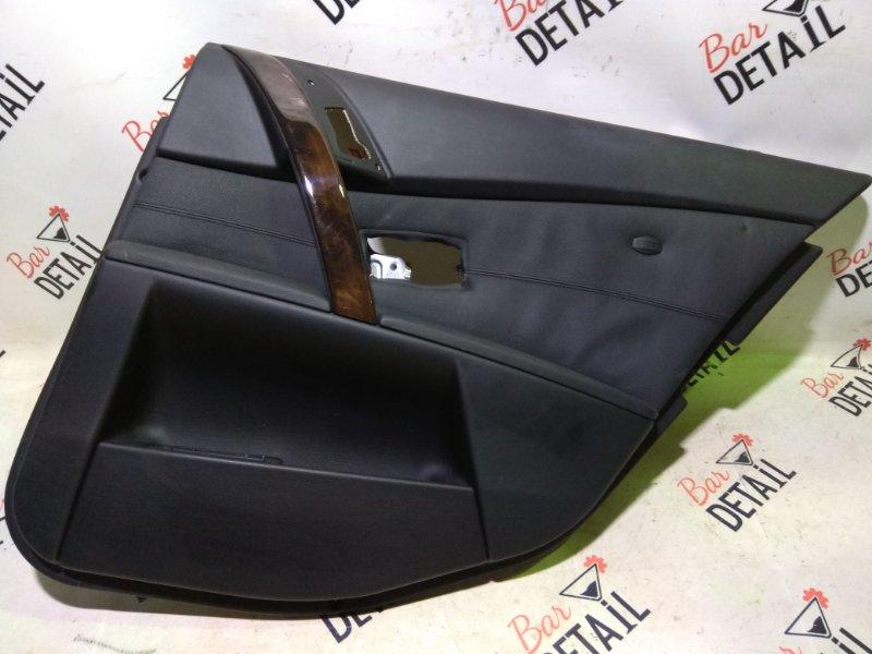 Обшивка двери задняя правая черная  на BMW 5 E60 контр