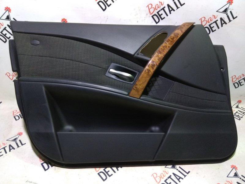 Обшивка двери Bmw 5 Серия E60 M54B30 2004 передняя левая