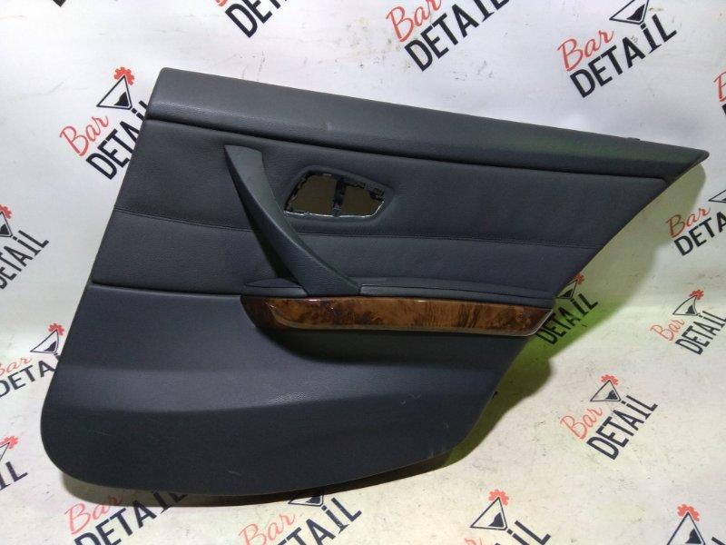 Обшивка двери задней правой кожа дерево  BMW e90 контр.