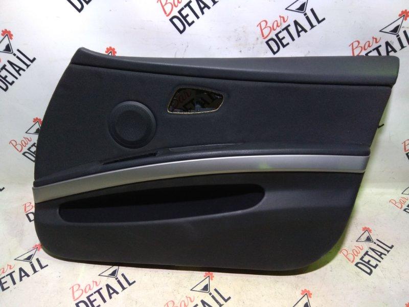Обшивка двери передней правой ткань под алюмин  BMW e90 контр.