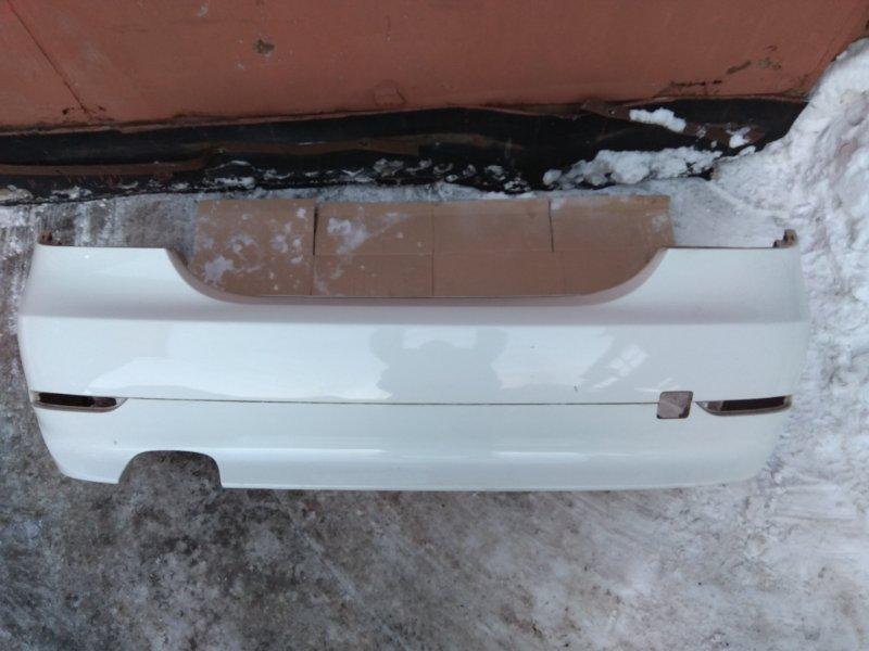 Бампер задний серебро/белый BMW 5 E60 контр.