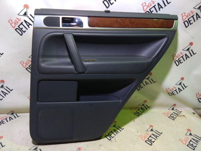 Обшивка двери Volkswagen Touareg 7L6 BHK 2008 задняя правая