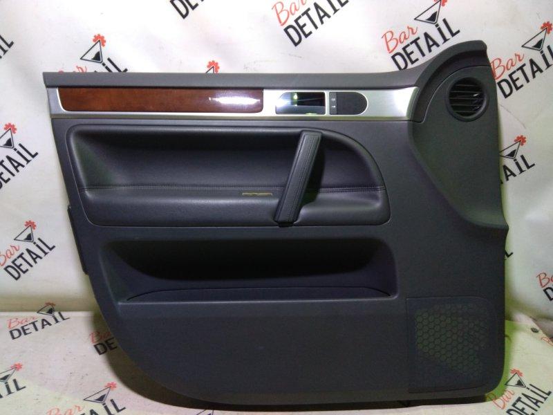 Обшивка двери Volkswagen Touareg 7L6 BHK 2008 передняя левая