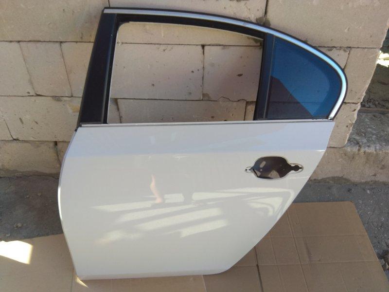 Дверь левая задняя синяя/серебро/белая BMW 5 E60_E61 контр.