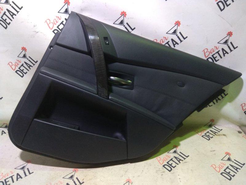 Обшивка двери Bmw 5 Серия E61 N52B25 2007 задняя левая