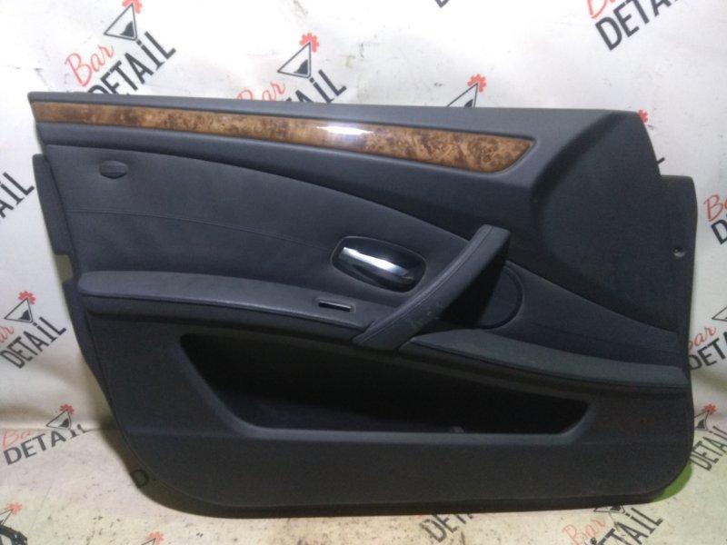 Обшивка двери Bmw 5 Серия E60 N52B25 2007 передняя левая