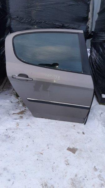 Дверь Peugeot 407 6D EW10J4 2004 задняя правая